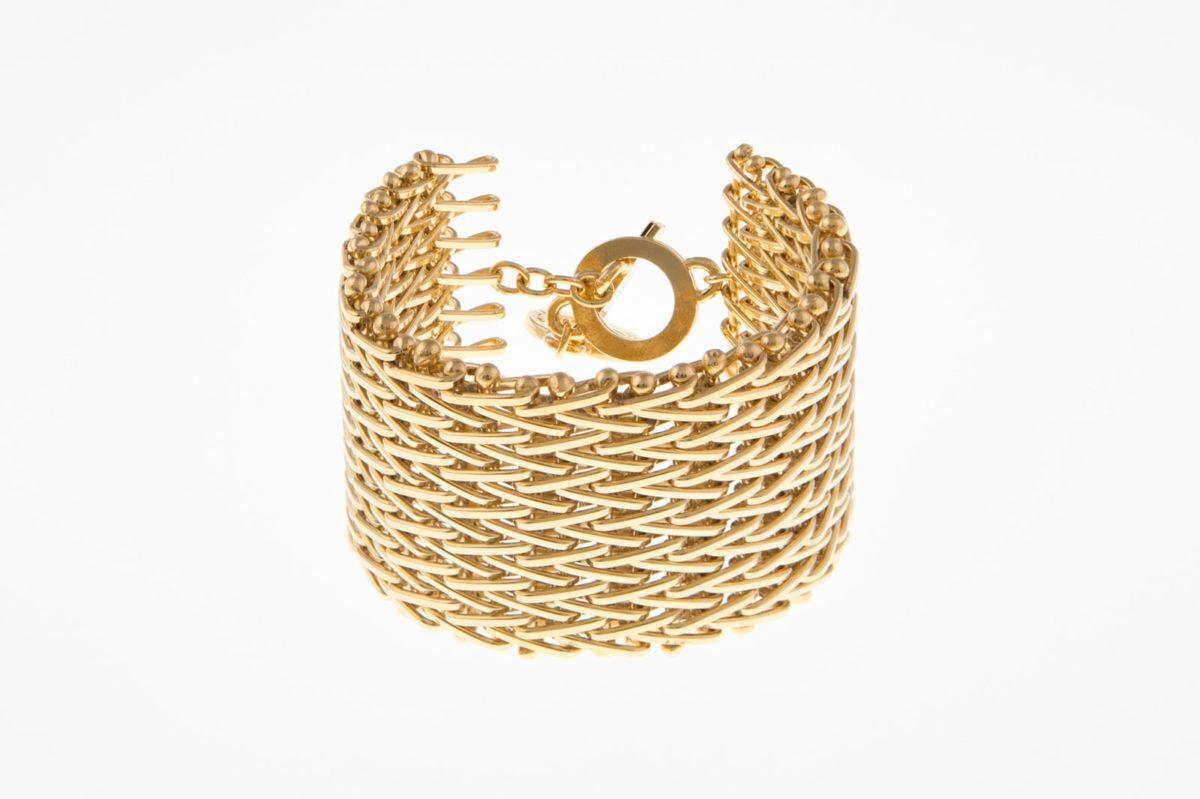 Pulsera Mesh 400w gold-