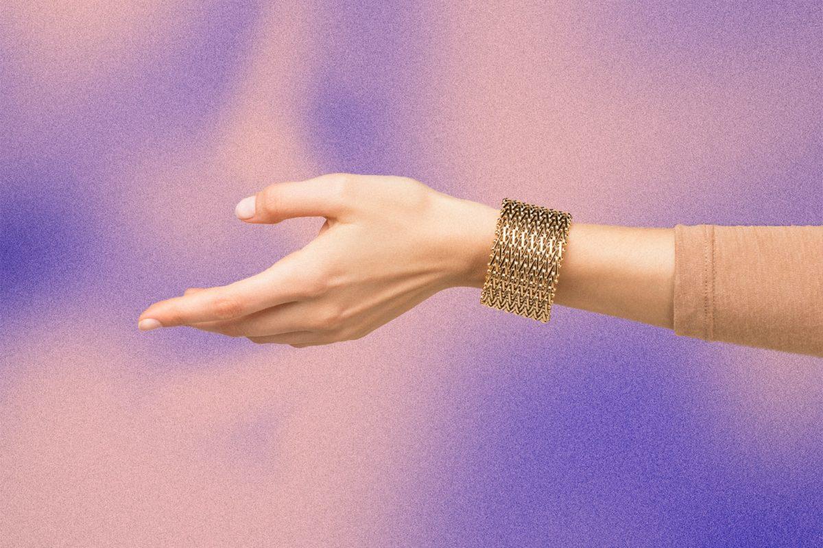 Pulsera Mesh 400w gold - brazo